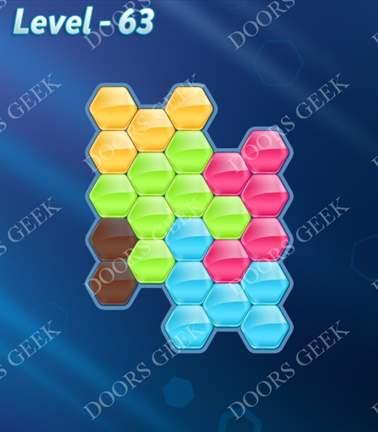 Block! Hexa Puzzle [Rainbow A] Level 63 Solution, Cheats, Walkthrough for android, iphone, ipad, ipod