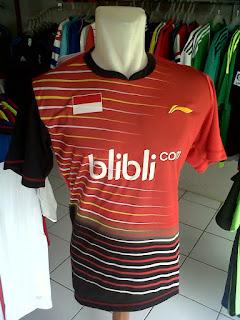 Jual Jersey Bulutangkis Indonesia Merah Hitam di toko jersey jogja sumacomp, murah berkualitas
