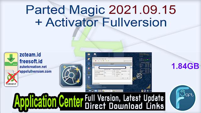 Parted Magic 2021.09.15 + Activator Fullversion