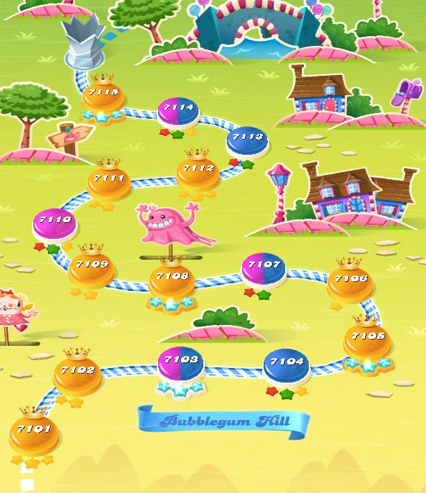 Candy Crush Saga level 7101-7115
