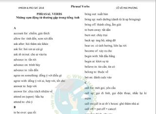 Những cụm động từ thường gặp trong bài tập Tiếng Anh (có bài tập tự luyện)