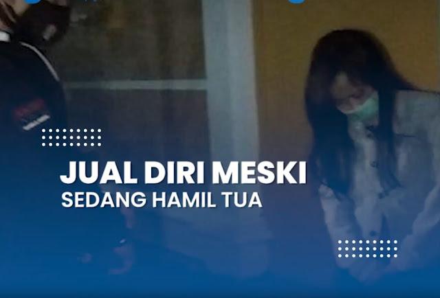 Terdesak Kebutuhan, Seorang Wanita Tetap Mangkal Jadi PSK Meski Hamil Tua, Pelaku Dikawal Suami Sah