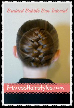 braided bubble bun dance hairstyle