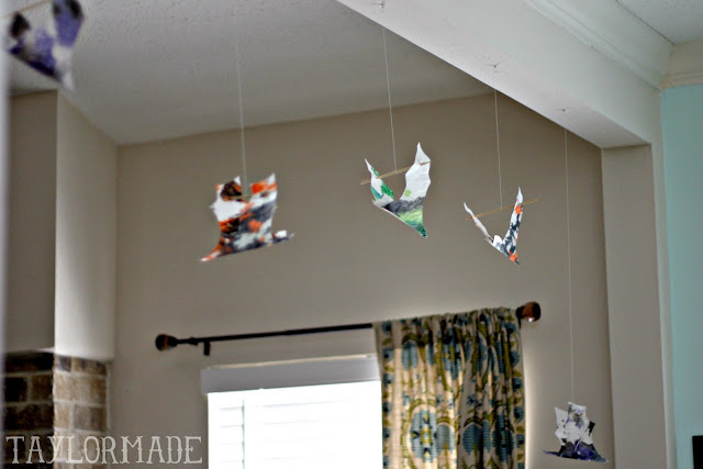 Kids Craft - Halloween Crayon Bats 11