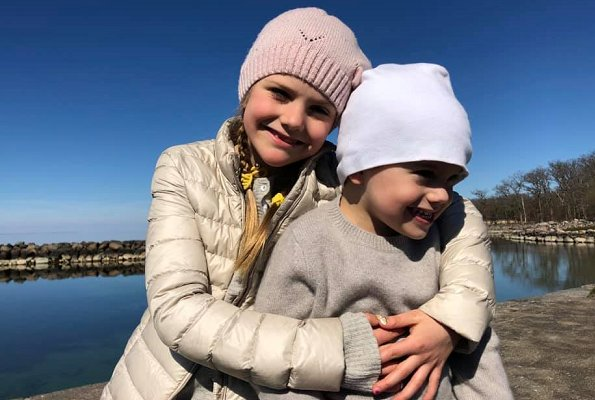 Crown Princess Victoria, Princess Estelle and Prince Oscar. Swedish Crown Princess family was in Öland at Easter