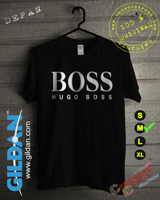 Baju Kaos Distro Hugo Boss Warna Hitam