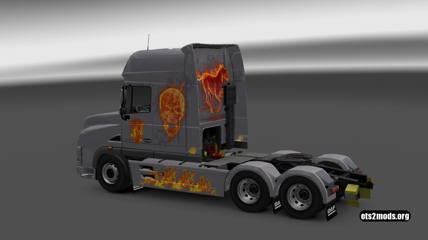 In Flame Skin for DAF XT