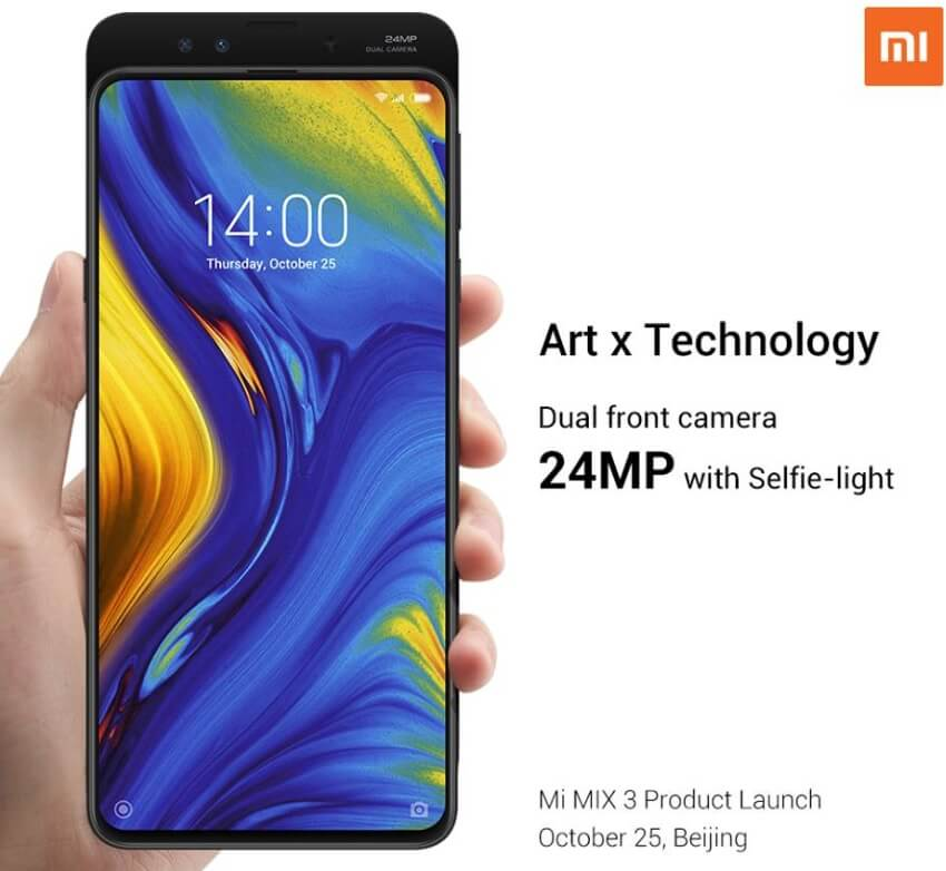 Xiaomi Set to Launch Mi Mix 3 on October 25