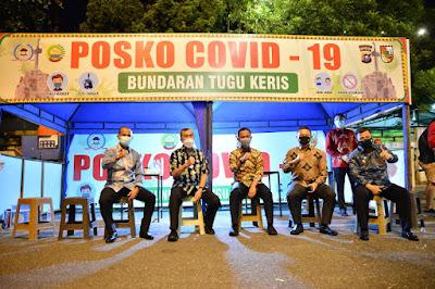 Pekanbaru Masuk Zona Merah, Gubernur Riau Sosialisasi Prokes COVID-19 di Pusat Kuliner