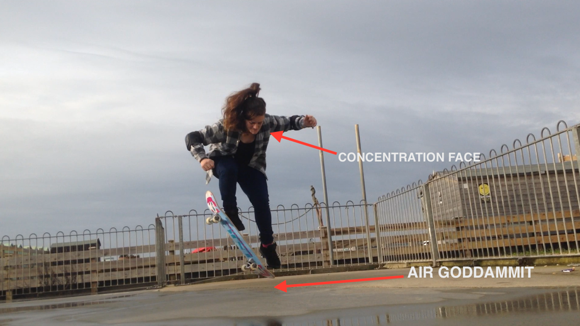 FitBits | Skateboarding in Brighton - learning to ollie
