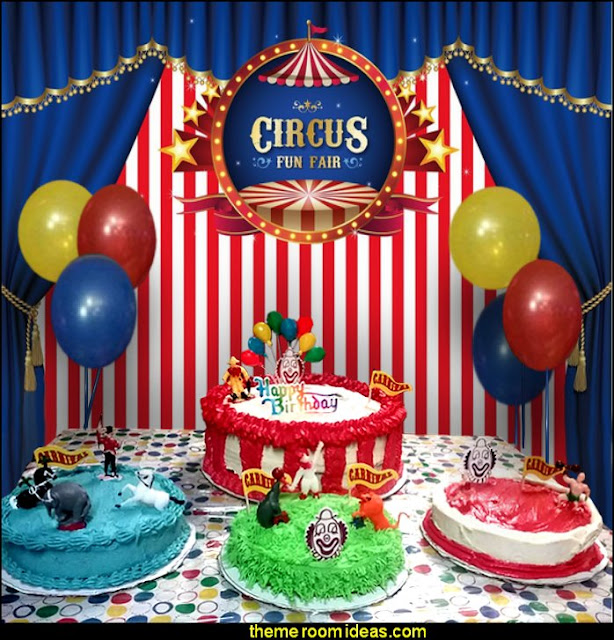 circus party cake decorations  circus themed party decorations - carnival circus theme party decorations - circus carnival themed birthday party - Ice Cream theme decor -  circus party supplies - Circus Party Props - circus costumes - circus carnival party supplies