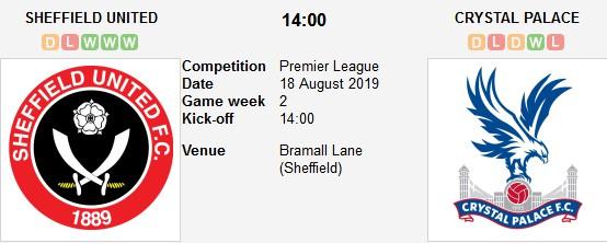 مشاهدة مباراة شيفيلد يونايتد وكريستال بالاس بث مباشر 18/09/2018 الدوري الإنجليزي