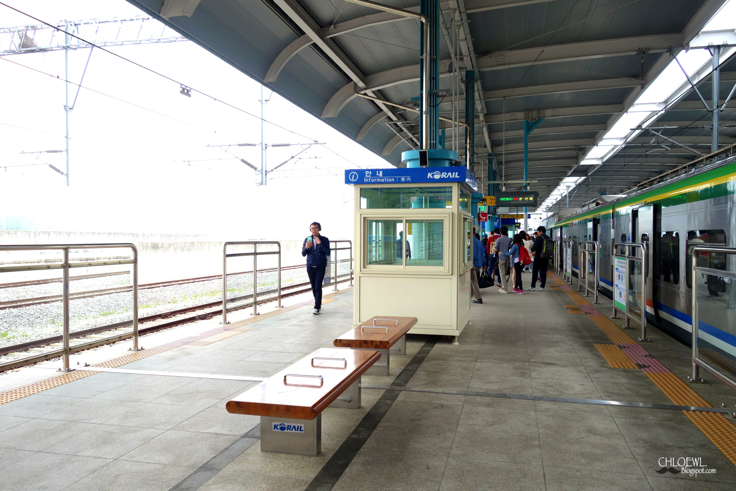 arrival train station