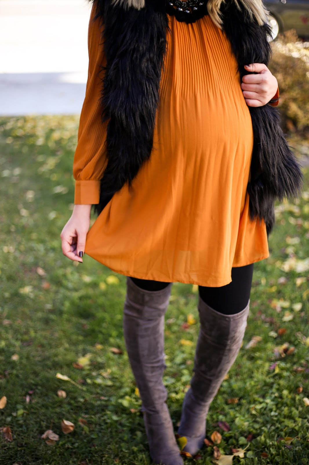 Fur Vest, Tunic, Fall Outfit, Utah Fashion Blogger