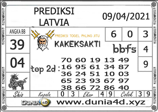 Prediksi Togel LATVIA DUNIA4D 09 APRIL  2021