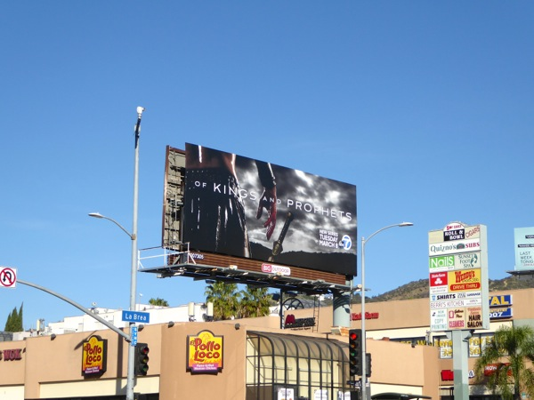 Of Kings and Prophets TV billboard