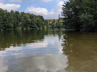A photograph of the Teufelssee in Grunewald Park in Berlin