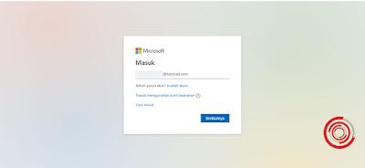 2. Kemudian input alamat email Outlook yang kalian miliki, lalu klik Berikutnya