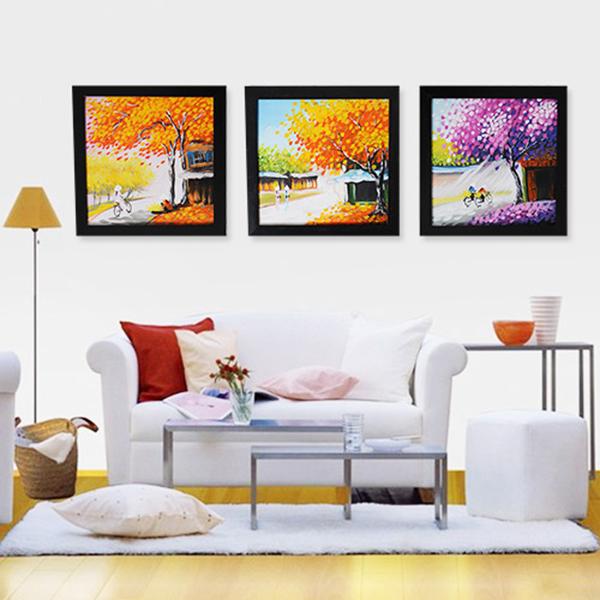 tranh trang trí phòng khách đẹp và ấn tượng