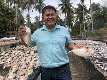 Ikan Kering Gelama Sungai di Kota Bharu