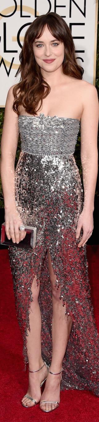 Dakota Johnson 2015 Golden Globe Awards
