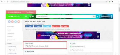 1. Silakan kalian kunjungi PhotoRetrica untuk flip gambar dan foto lalu tambahkan foto atau gambar ada menu Input Image