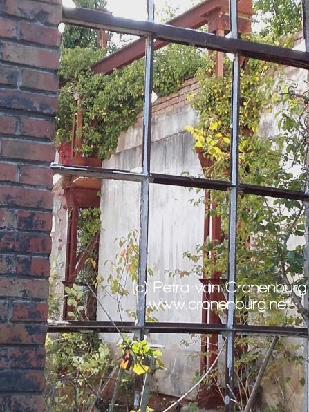Durchblick ins Fenster einer Ruine