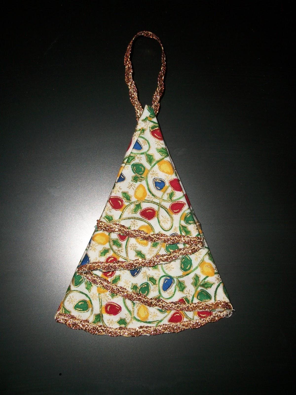 Creative Bling: Fabric Christmas Tree Ornament