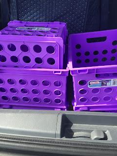 mini crates for flexible seating classroom organization