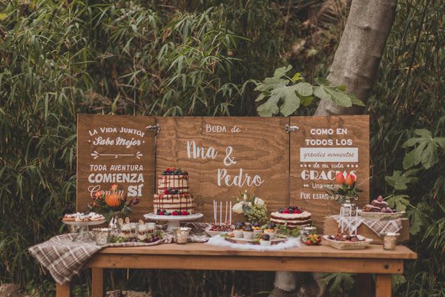 candy bar boda otoño