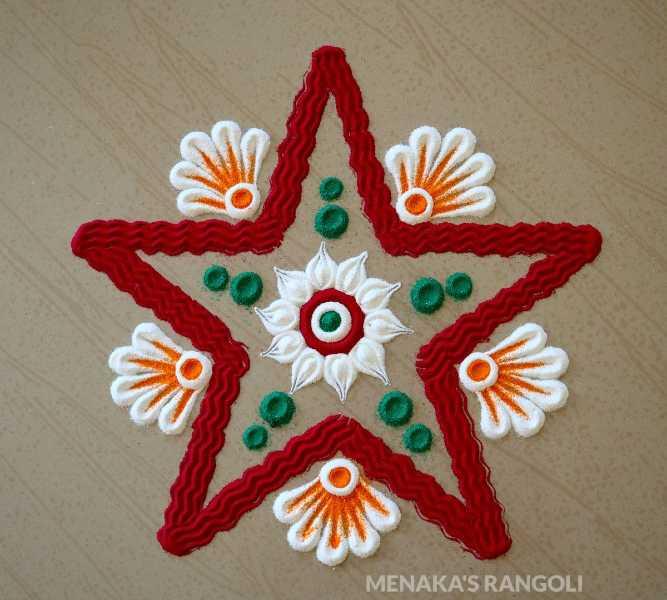 star simple rangoli design