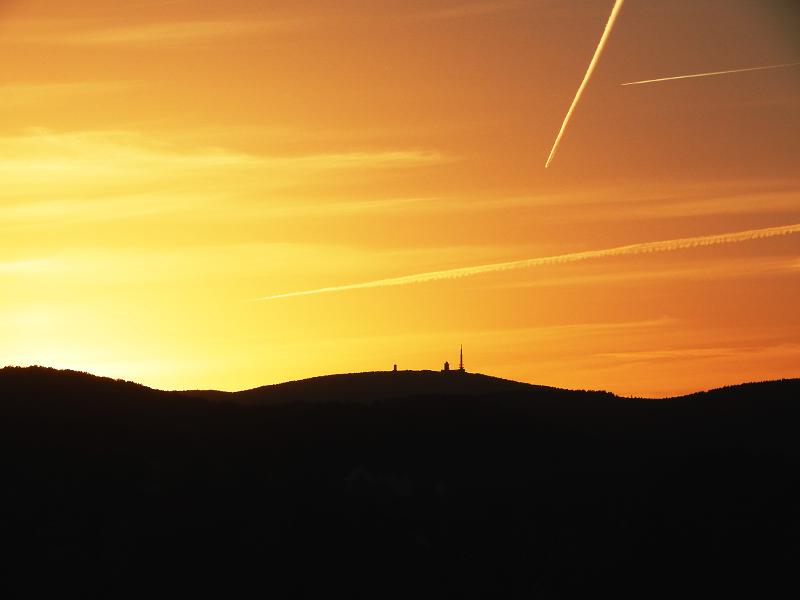 Brocken, Deutschland, Sonnenuntergang, Wernigerode