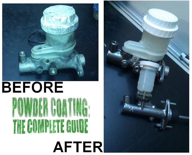 Powder Coating brake master cylinder