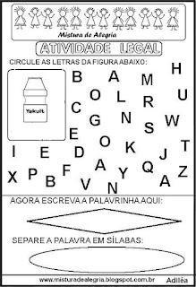 Atividade legal de alfabetização Y