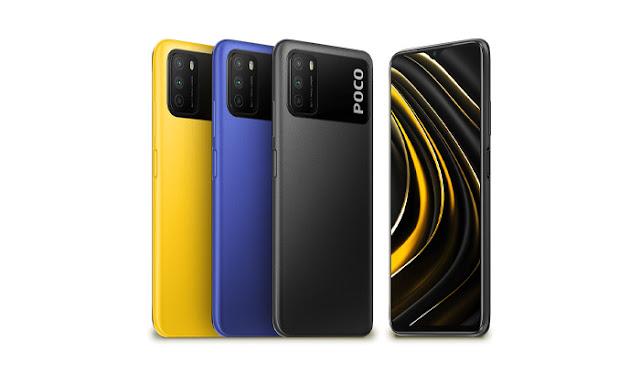 ألوان هاتف poco m3