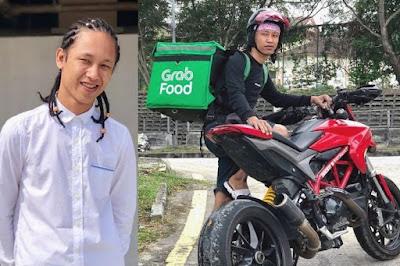 Viral Driver Grab Antar Makanan Menggunakan Superbike Ducati Hypermotard