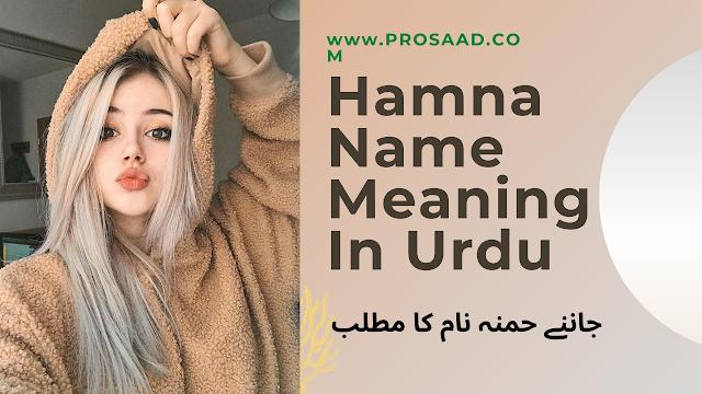 Hamnah Name Meaning in Urdu