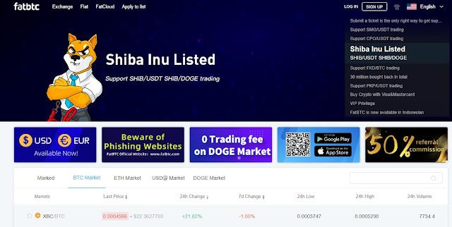 Screenshot Halaman Website FatBTC