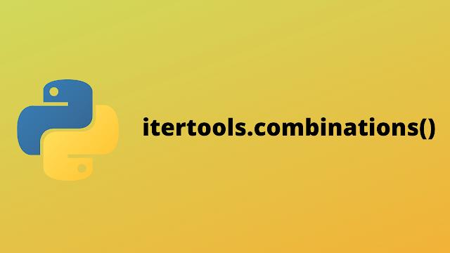 HackerRank itertools.combinations() solution in python