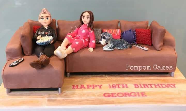 Anniversary And Birthday Cakes Sofa Cakes Design All