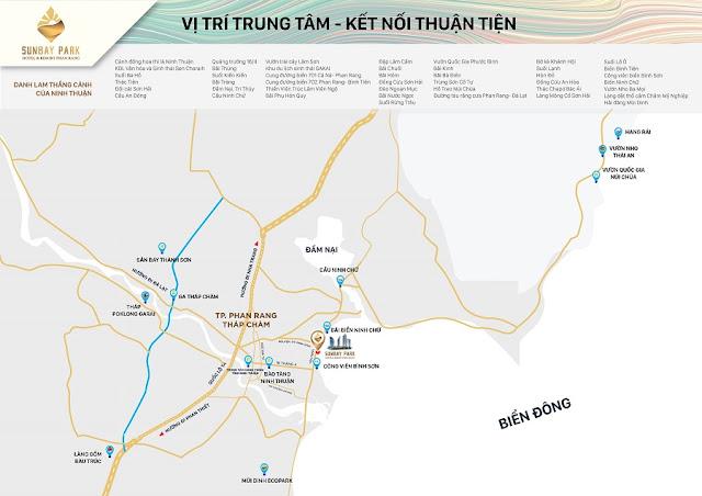 Vị trí dự án căn hộ Sunbay Park Hotel & Resort Phan Rang - Ninh Thuận