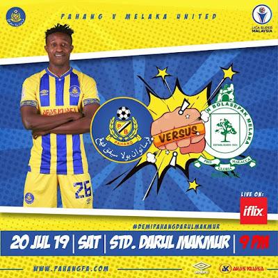 Live Streaming Pahang vs Melaka United 20.7.2019