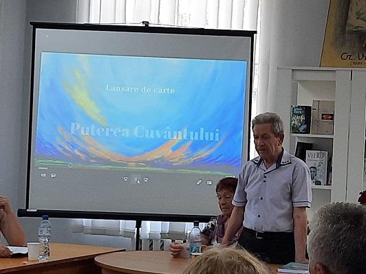 """În incinta Bibliotecii """"Grigore Vieru"""" din Cahul, a avut loc lansarea cărții """"Puterea Cuvântului"""" a profesorului Vasile Curjos."""