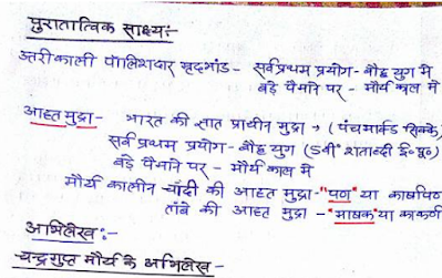 History Handwritten Notes Hindi