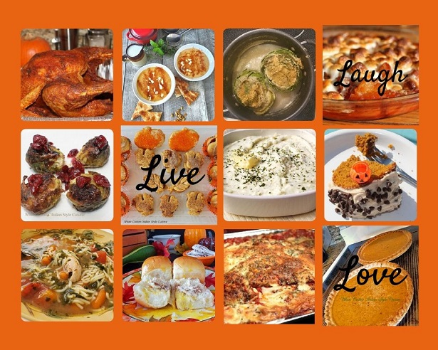 this is a Thanksgiving Day recipes photo collage