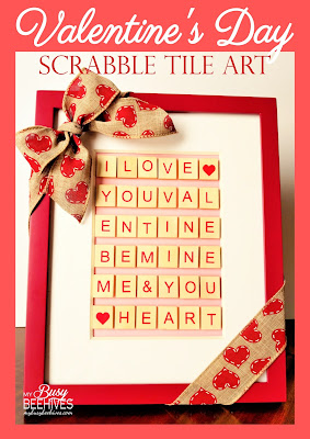 Valentine's Scrabble Tile Wall Art by My Busy Beehives