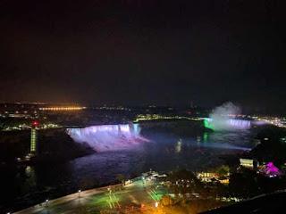 The Falls At Night.
