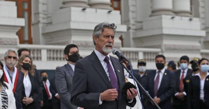 FRANCISCO SAGASTI: Presidente de Congreso renunció a su precandidatura a vicepresidencia para elecciones 2021