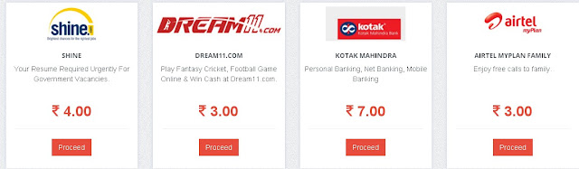 KamateRaho.com is the latest and exclusive website for earn talktime and pocket money.KamateRaho.com supports recharges on all mobile operators be it, Airtel, Aircel, Vodafone, Reliance, BSNL, Loop, MTS, Tata Indicom, Docomo, Aircel, Uninor, Idea, Virgin Mobile and many more.it gives you recharge  offers on website complete the offers to get recharge .also you can earn pocket money in the form of bank transfers