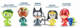 Teen Titans Go Costume Figures in Sonic Wacky Packs
